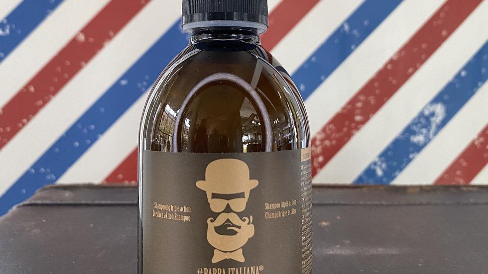 Shampoo dalla consistenza morbida e fluida con azione detergente e condizionante
