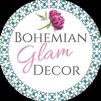 Teal Logo Wht BG Bohemian Glam Decor.png