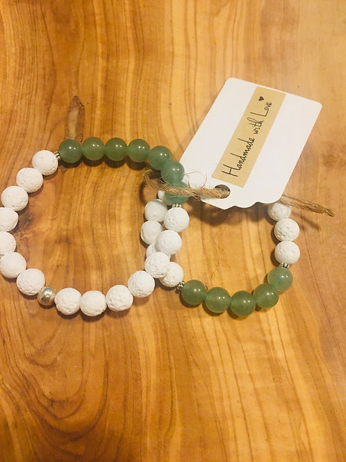 Mommy & Me Connected Bracelets: Aventurine
