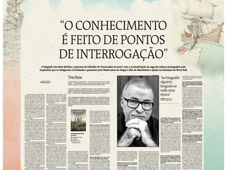 """Estado de Minas: """"O conhecimento é feito de pontos de interrogação"""""""