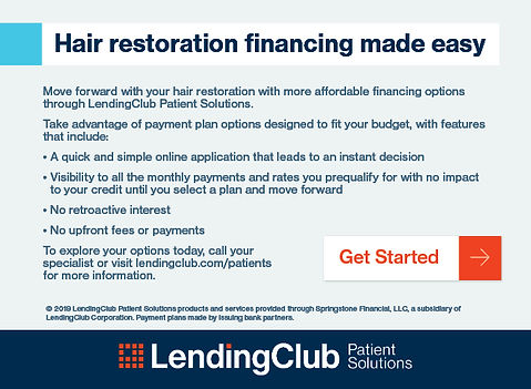 Hair Restoration Financing 2019