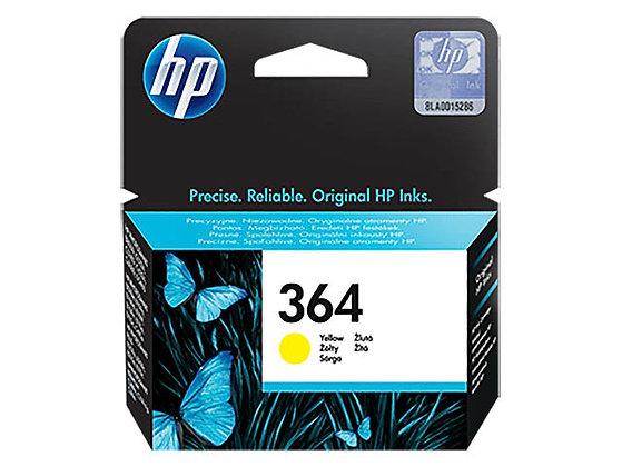 Cartouche d'encre HP364 Jaune