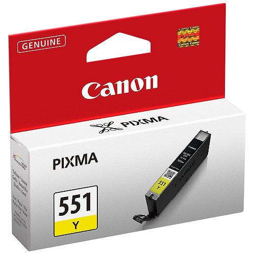 Cartouche d'encre Canon CLI551 Jaune