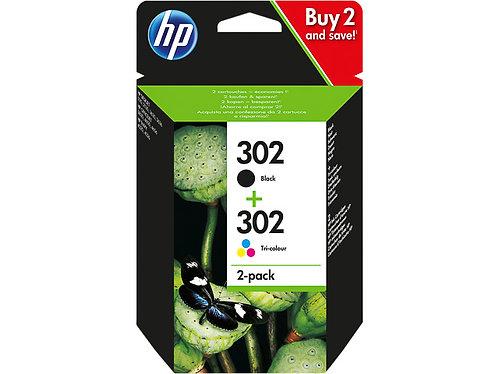 Pack cartouches d'encre HP302 Noir + Couleurs