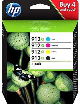 Pack cartouches d'encre HP912XL
