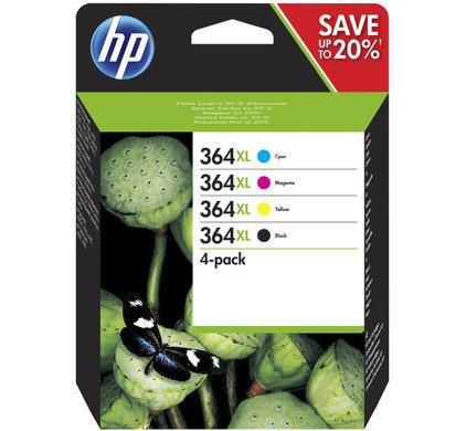 Pack cartouches d'encre HP364XL - 4 Couleurs