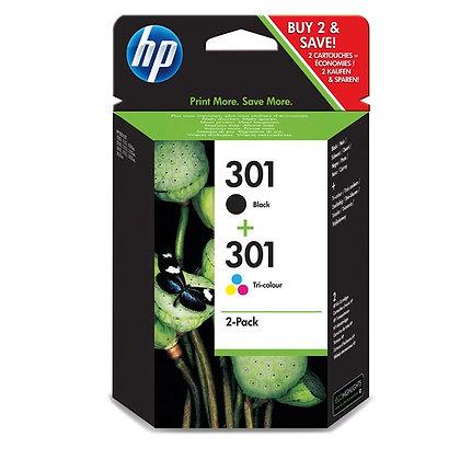 Pack cartouches d'encre HP301 Noir + Couleurs
