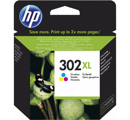 Cartouche d'encre HP302XL Couleurs