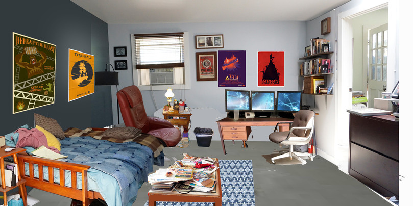 Brendan's office-pencil+photoshop