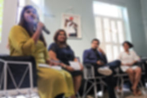 A panel from a talk held in the library