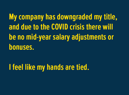 Dear Cindy......No salary adjustments and no bonus - my hands are tied!