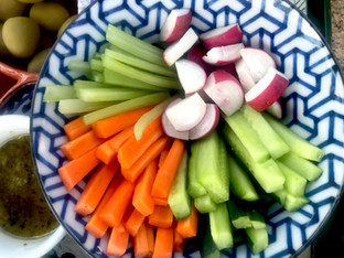 Crudites com blue cheese