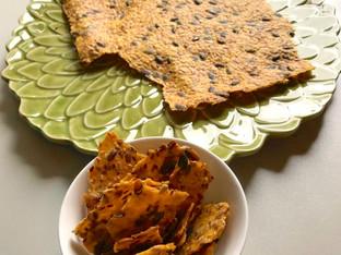 Crisp vegano com sementes – estilo pão sueco