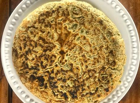 Pão de frigideira de grão de bico
