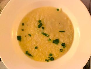 Sopa de palmito light com alho poró