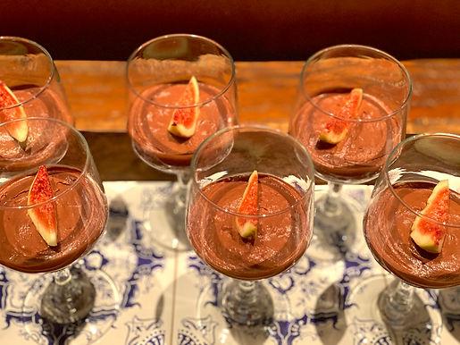Mousse de Figo com Chocolate