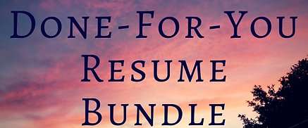 Done-for-You Resume Bundle