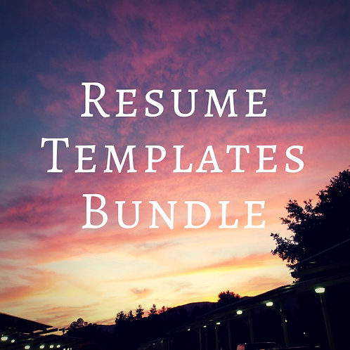Resume Templates Bundle - with Discount