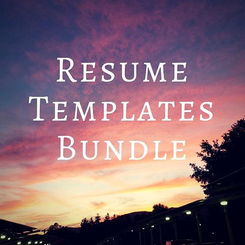 Resume Templates Bundle