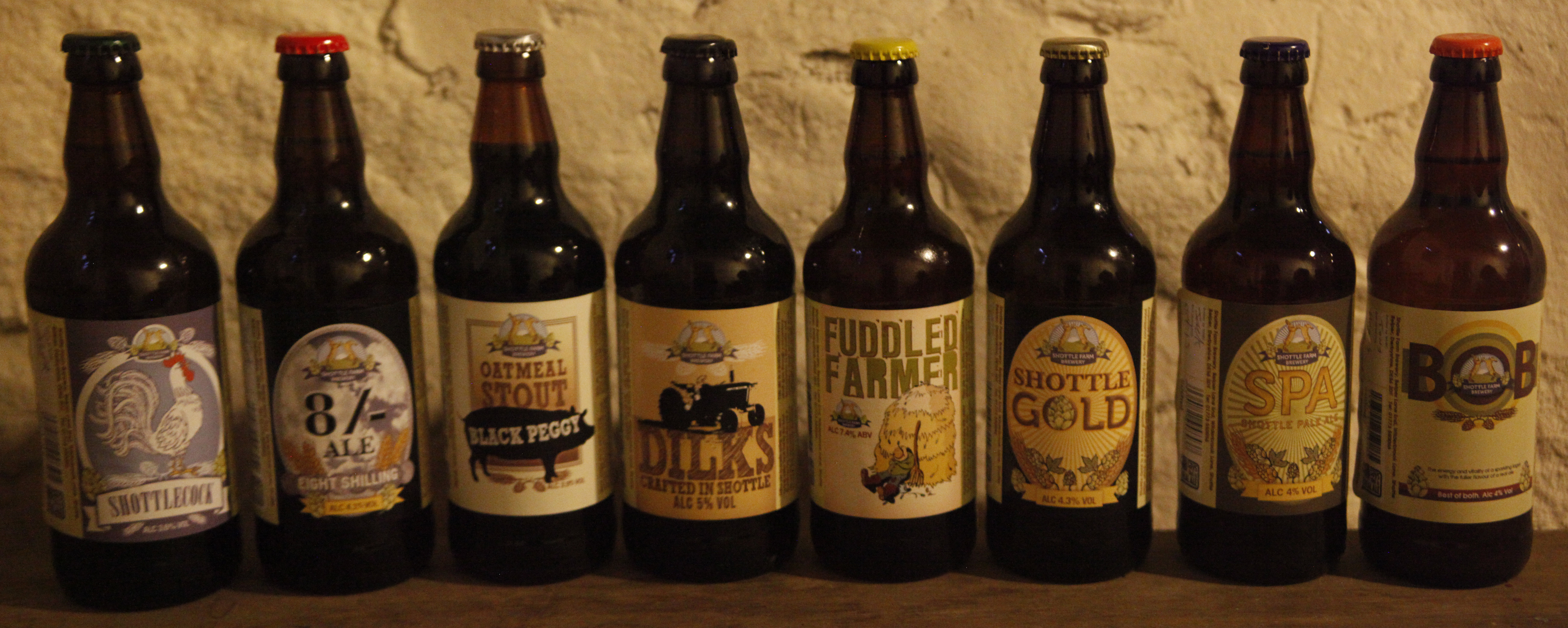 Our variety of bottled ales