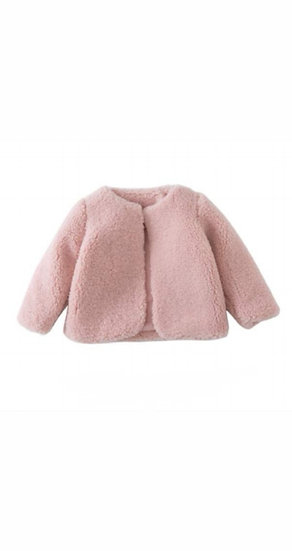 Faux Fur Powder Pink Coat