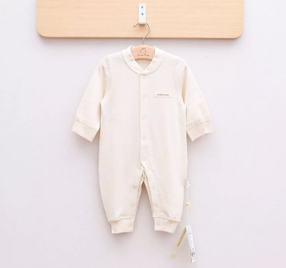 Ivory Organic Cotton Knit Onesie