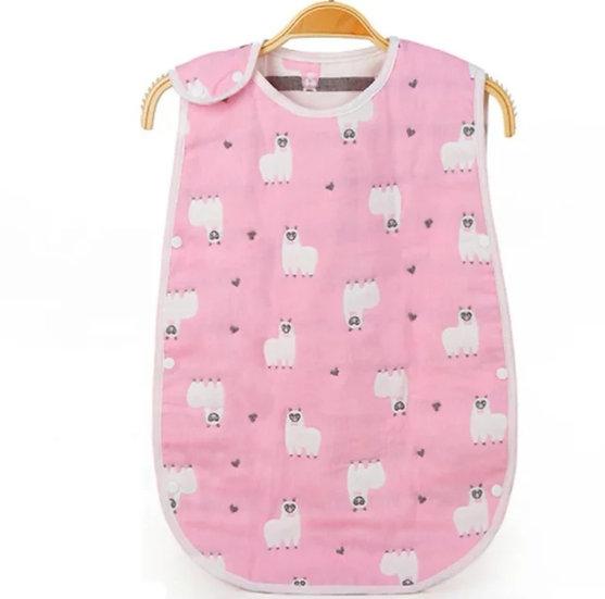 Baby Sleepsack in Pink Llama
