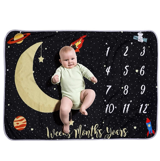Milestone Blanket Rocket Moon