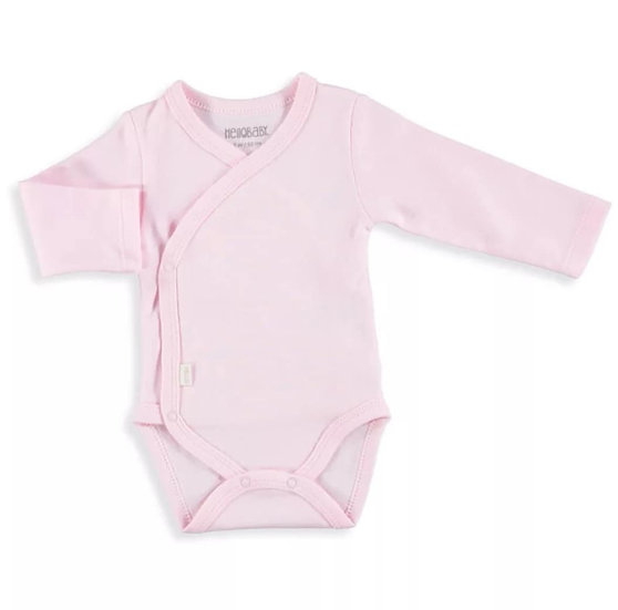 HelloBaby Cross-Over Bodysuit in Pink