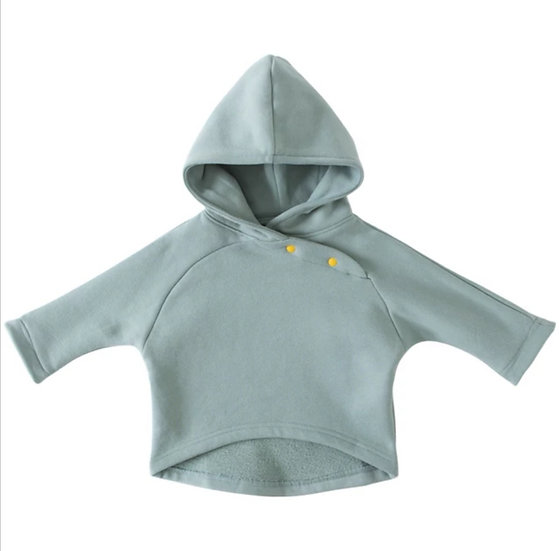 Cotton Hoody in Sage