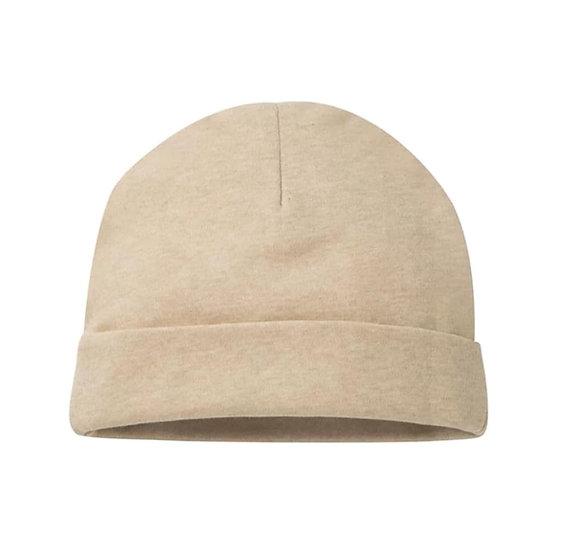 Organic Cotton Newborn Hat in Sand