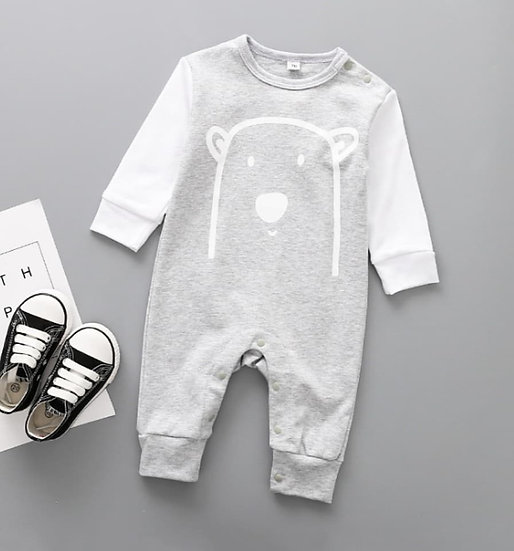 Cotton Bear Onesie in Grey