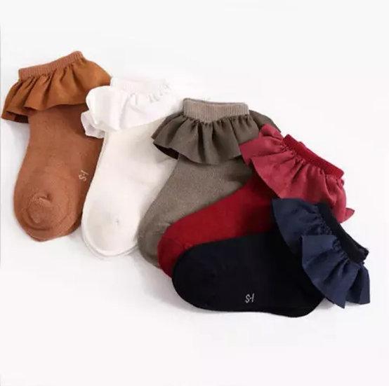 5 Pack Frill Cotton Socks
