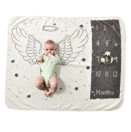 Milestone Blanket Angel Wings