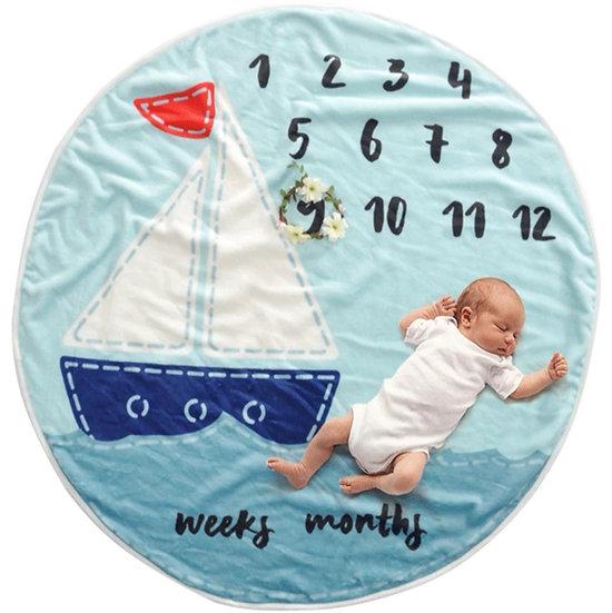 Milestone Blanket Sailing Boat