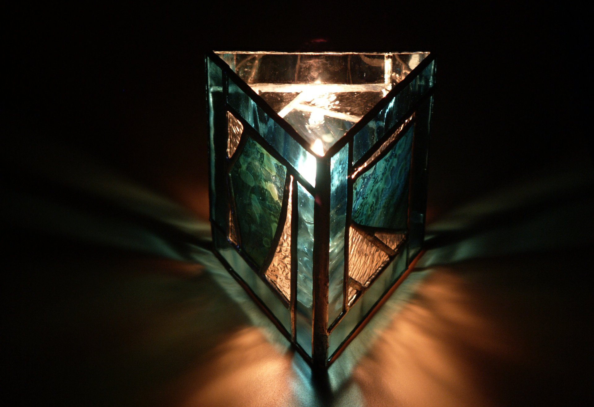 Stained Glass Oil Votive Lamp