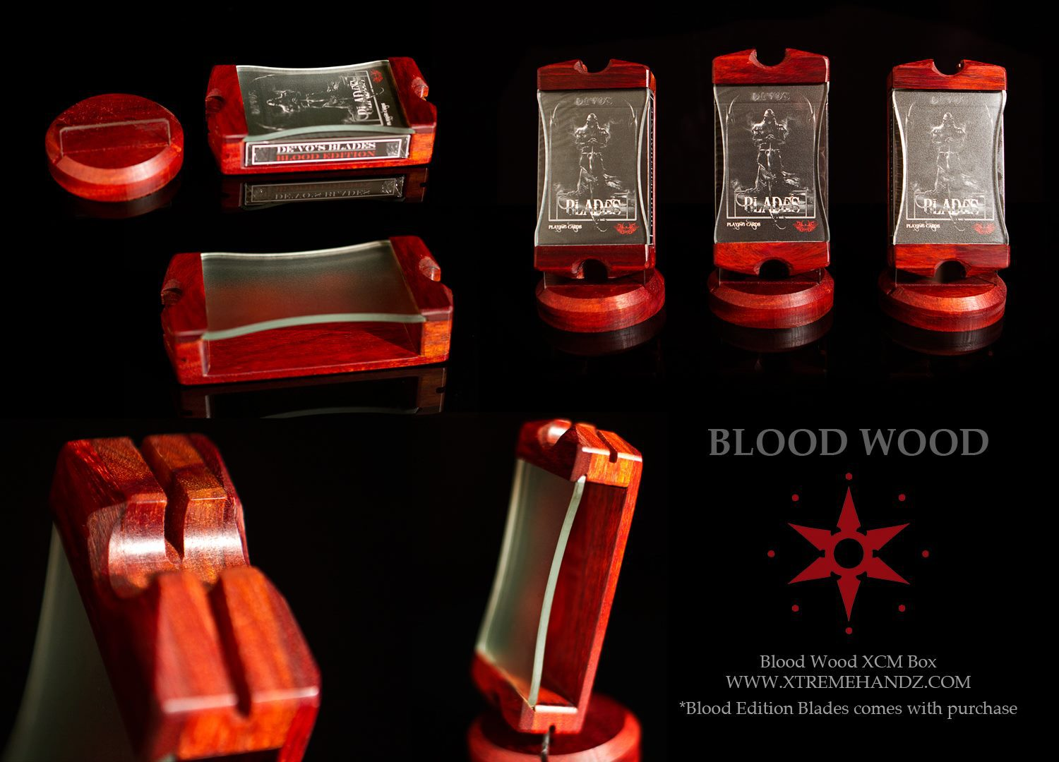 LE Blood Wood XCM Card Boxes.