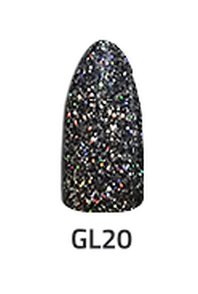 CHISEL 2IN1 ACRYLIC & DIPPING 2 OZ - GL 20 - GLITTER COLLECTION