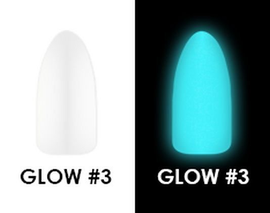 CHISEL 2IN1 ACRYLIC & DIPPING 2 OZ - GLOW #3 - GLOW IN THE DARK COLLECTION