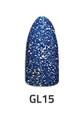 CHISEL 2IN1 ACRYLIC & DIPPING 2 OZ - GL 15 - GLITTER COLLECTION