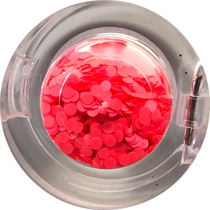 GG039 - Neon Red Orange Circle