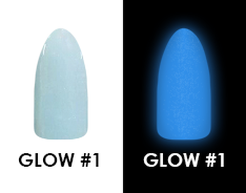 CHISEL 2IN1 ACRYLIC & DIPPING 2 OZ - GLOW 1 - GLOW IN THE DARK COLLECTION