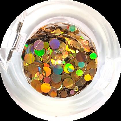 GG200 - Circle Mix Hologram Gold