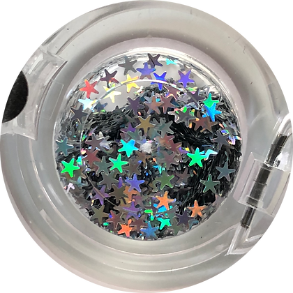 GG051 - Silver Hologram Star (2.5mm)