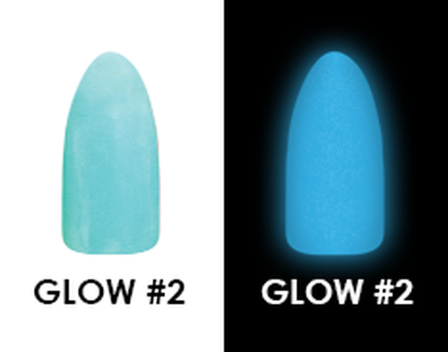 CHISEL 2IN1 ACRYLIC & DIPPING 2 OZ - GLOW #2 - GLOW IN THE DARK COLLECTION