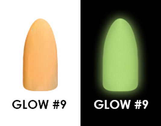 CHISEL 2IN1 ACRYLIC & DIPPING 2 OZ - GLOW #9- GLOW IN THE DARK COLLECTION