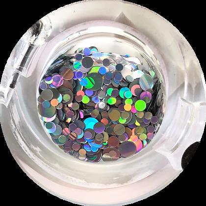 GG221 - Circle Mix Hologram Silver
