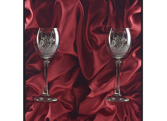 Winedimensions Wine Glass Gift Set without Wine (2/box Black/Red)