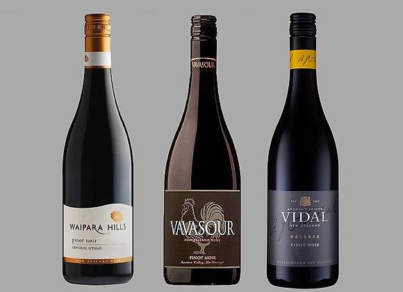 New Zealand Pinot Noir Wine Selection