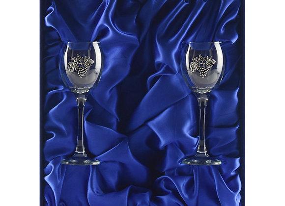 Winedimensions Wine Glass Gift Set without Wine (2/box Blue)